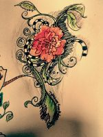Flowered heart doodle. by H-o-s-t