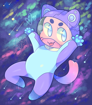 space kitty by dongoverlord