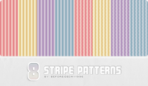 8 Stripe Patterns by BeforeIDecay1996