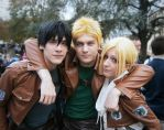 SnK ~ Bertolt, Reiner and Annie by YamatoTaichou