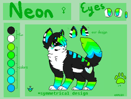 Neon reference sheet by xTROPIC-CARRlBEAN