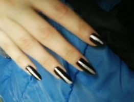 Black And Silver Nails by OptimusGirl