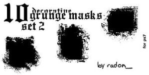 Grunge Masks Set II by flenodar