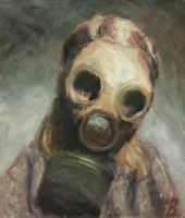Girl With Gas Mask by Eccentric-Wolf