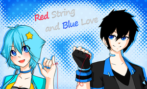 Red string and Blue love by Arlymone