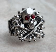 Skull and Bones Ring by Aranwen