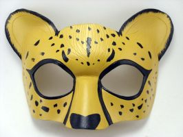 Cheetah Mask by LucyLovesLeather