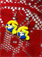 Sailor moon earrings - polymer clay -handmade by DarkettinaMarienne