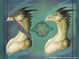 Wyvern bust -  Dragon Practice by Kamzeia-MS