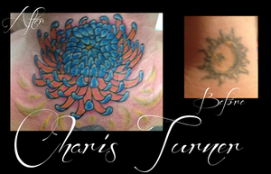 Chrysanthemum Cover Up Tattoo by Metacharis