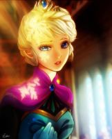 Queen elsa by Esther-fan-world