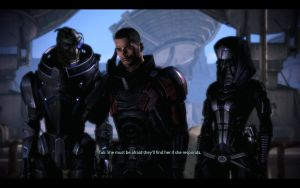 ME3 Ontarom - Alan Shepard, Garrus and Tali by chicksaw2002