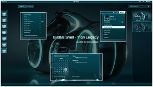GNOME Shell - Tron Legacy by half-left