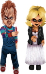 Chucky and Tiffany by monstermaster13