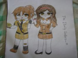 Chibi Fem!Italy and Fem!Romano by SilverReira