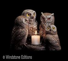 Parliment of Owls candle lamp by Reptangle