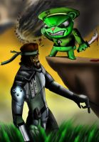 HTF Flippy versus Solid Snake by redadder515