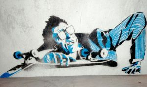 Skate guy stencil by Hacaliah