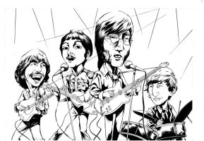 The beatles inked by GIO2286