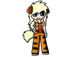 Pokemon Growlithe Gijinka Auction by Twine-Adopts