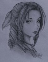Aerith Sketch by Bunnlette