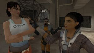 [OLD CRAP] Alyx Meets Chell by PeabodySam
