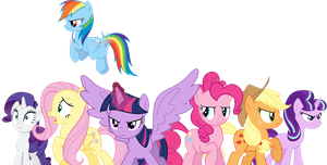 The Mane 7 preparing to battle by 76859Thomasreturn