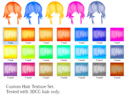 T-Hair Texture Set by MMDFakewings18
