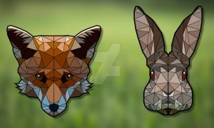 Fox and Rabbit by HaruInkisitor