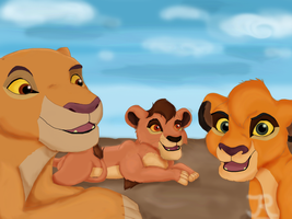 Kiara and her cubs. by JR-Style