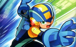 MegaMan.EXE rush to action Wallpaper by Mega-X-stream
