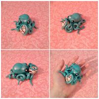 Teal Octopus w/ Shell by Sorenli