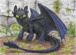 Night Fury ACEO by Strecno