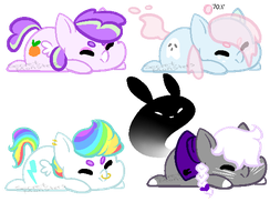 Teeny Pony adopts by SecretMonsters