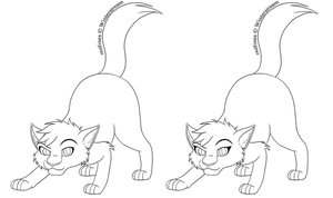 Free Lineart: Cat 6 by Winterstream