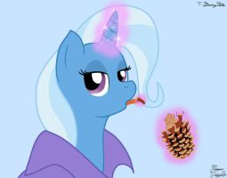 Trixie's Pinecone Lunch by FacelessJr