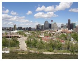 Downtown Calgary by zommy