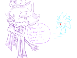 Silver being a perv by SkyTye