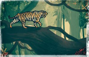 Jungle Cat by haha-tommy