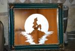 The Little Mermaid Etching With Frame by olivia808