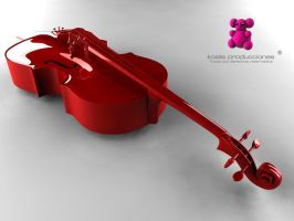 Violoncello - Rouge by the-kraft