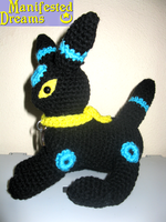 Shiny Umbreon Amigurumi Sit by ManifestedDreams