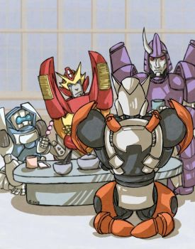 Robot Tea Ceremony - Transformers by Sharky-chan