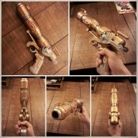 Finished Outlaw Star Caster Gun by agfrx7