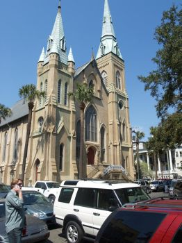Cathedral in Savannah, Georgia, St.Patrick's Day by sunbuns99