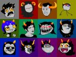 Homestuck Troll Face icons by Warcry31
