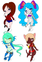 Adoptables (OPEN) by Mewberry-Chan