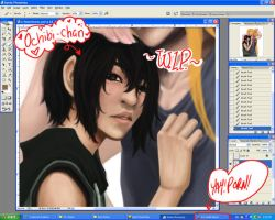 +WIP+ Sweethearts .painted by Arai-Hime
