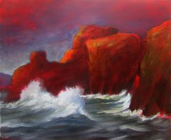 Red cliffs by Boias