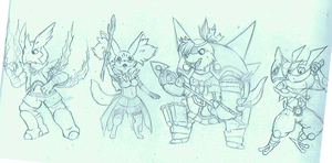 Bravely default chibis by tigersylveon
